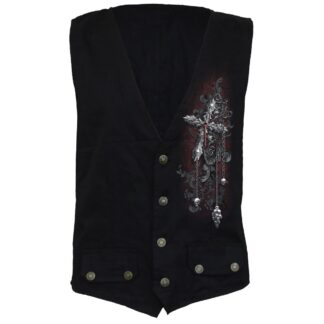 cross of darkness gotisk vest med knapper D077M656