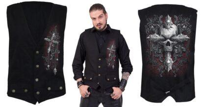 cross of darkness gotisk vest med knapper D077M656