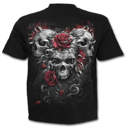 skulls n roses svart t-skjorte til barn E024K101