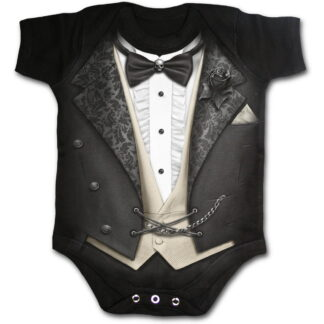tuxed svart body til baby F030K002