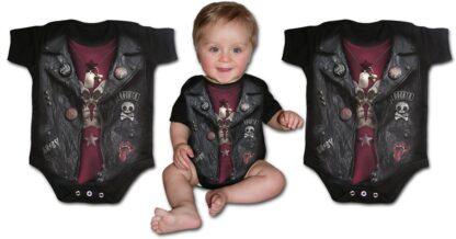baby biker svart body til baby F036K002