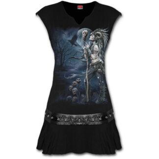 raven queen svart minikjole med studs rundt midjen K056F108