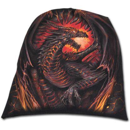 dragon furnace svart tynn lue i bomull L016A801