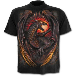 dragon furnace svart t-skjorte til barn L016K101