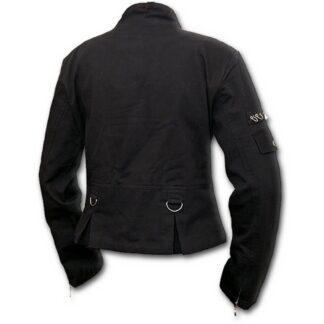 gothic rock svart østgotisk jakke til dame P002G401