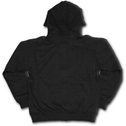 metal streetwear svart hettejakke til herre P003M464