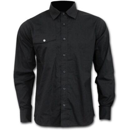 metal streetwear svart langermert skjorte P003M606