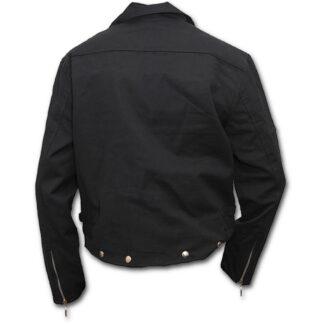 metal streetwear svart foret bikerjakke P003M651