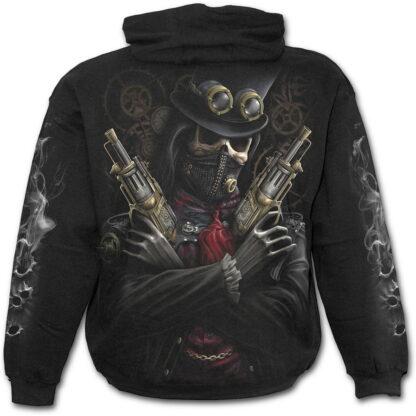 steam punk bandit svart hettegenser til barn T042K301
