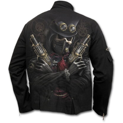 steam punk bandit svart østgotisk jakke T042M652