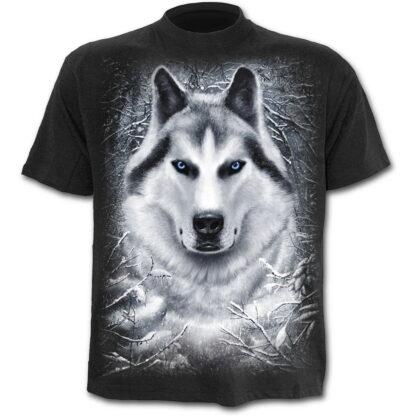 white wolf svart t-skjorte til barn T053K101