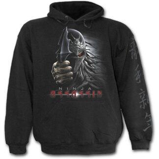 ninja assassin svart hettegenser til barn T075K301