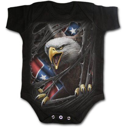 rebel eagle svart body til baby T113K002