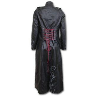 just tribal gotisk frakk i imitert lær til dame T139G406