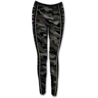 camo skull svart leggings med heltrykk T141G456