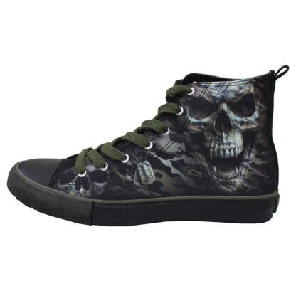 camo skull sneakers til herre T141S001