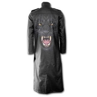 tribal panther gotisk frakk i imitert lær T143M658