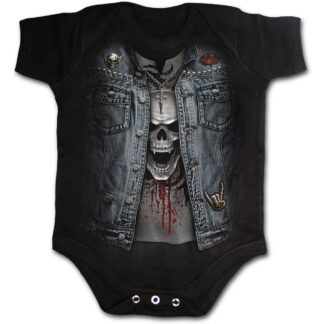 trash metal svart body til baby W024K002
