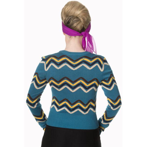 good vibes langermet cardigan med sikksakk mønster CA3113
