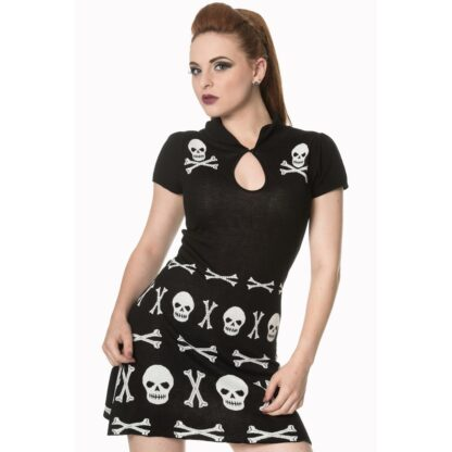 the after life scull dress minikjole med skalle motiv DR5189