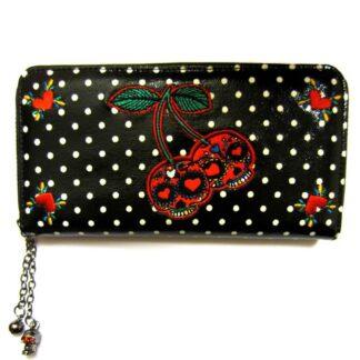 cherry skull lommebok med skallemotiv WBN1410