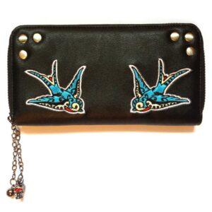swallows lommebok med svale broderier WBN1411
