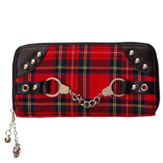 red tartan lommebok med håndjern WBN1427