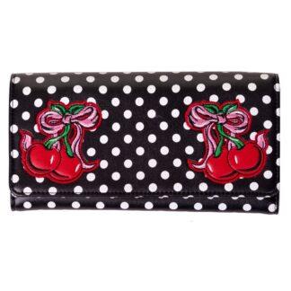 lucille lommebok med kirsebær motiv WBN1431