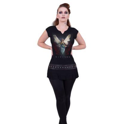 vikings angel svart minikjole med studs rundt midjen G204F108