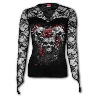 skulls n roses topp med v-hals og blonder E024F434