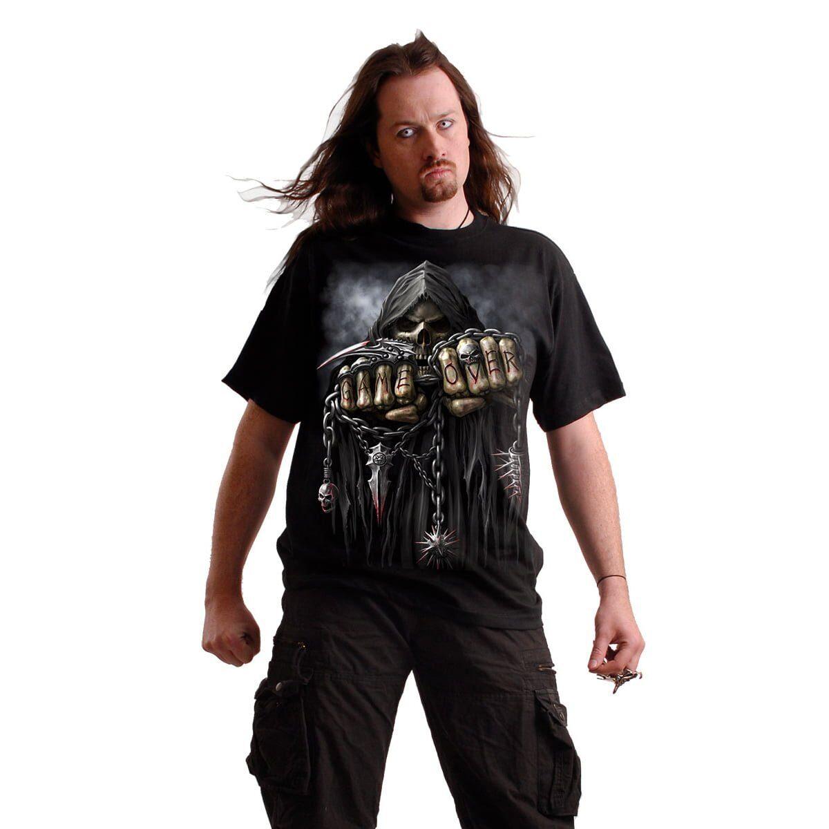game over svart t-skjorte til herre T026M101
