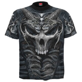 skull armour svart t-skjorte med heltrykk W030M105