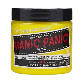 manic panic high voltage gul uv hårfarge 118 ml electric banana classic pot 36985