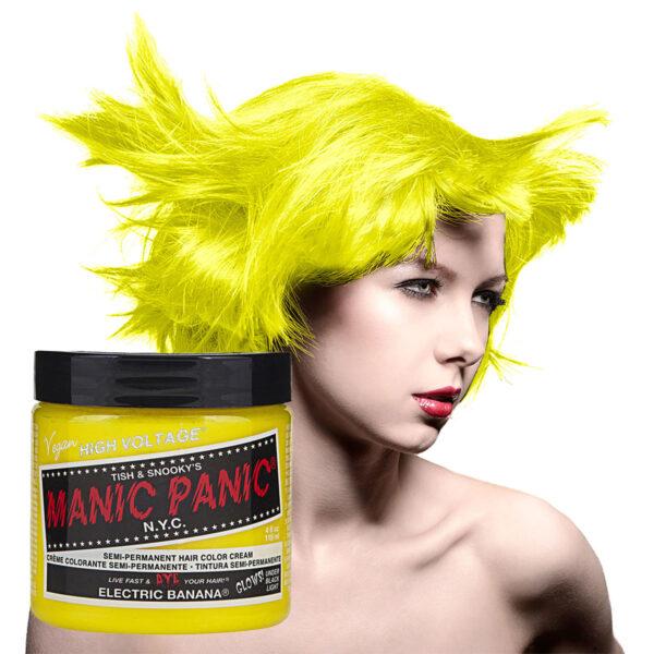 manic panic classic high voltage gul uv hårfarge 118ml model pot 36985
