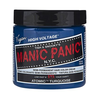 manic panic high voltage turkis hårfarge 118 ml atomic turquoise classic pot 43696
