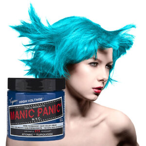 manic panic classic high voltage turkis hårfarge 118ml atomic turquoise model 43696