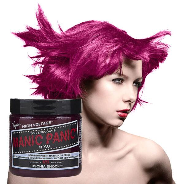 manic panic classic high voltage rosa hårfarge 118ml fuschia shock model pot 5028