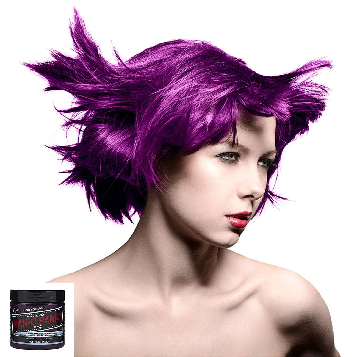 manic panic high voltage lilla hårfarge 118 ml purple haze classic model 54500