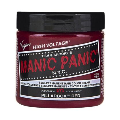 manic panic high voltage rød hårfarge 118 ml pillarbox red classic pot 54504