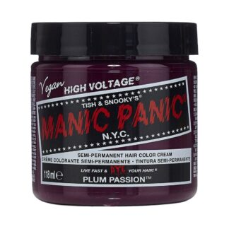 manic panic high voltage lilla hårfarge 118 ml plum passion classic pot 7040