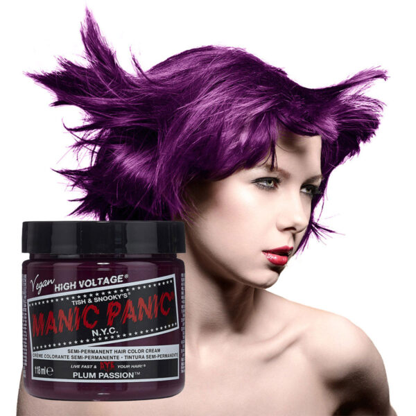 manic panic classic high voltage lilla hårfarge 118ml plum passion model pot 7040