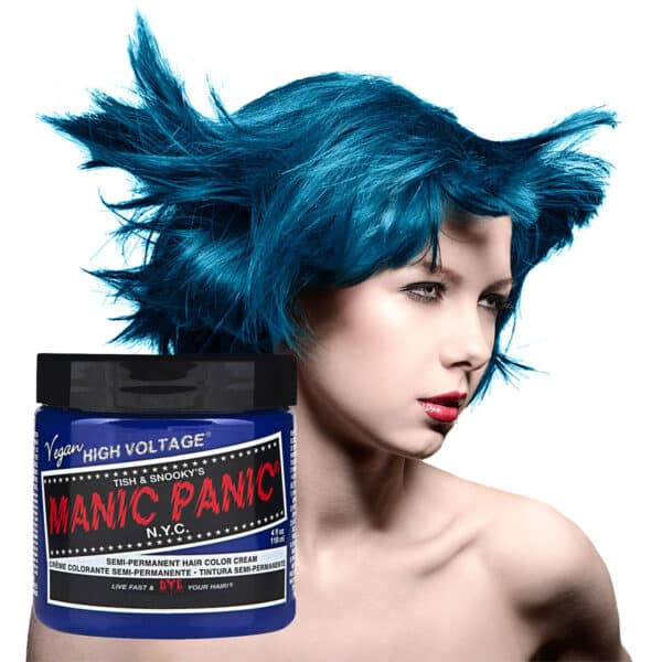 manic panic classic high voltage blå hårfarge 118ml after midnight model pot 70417