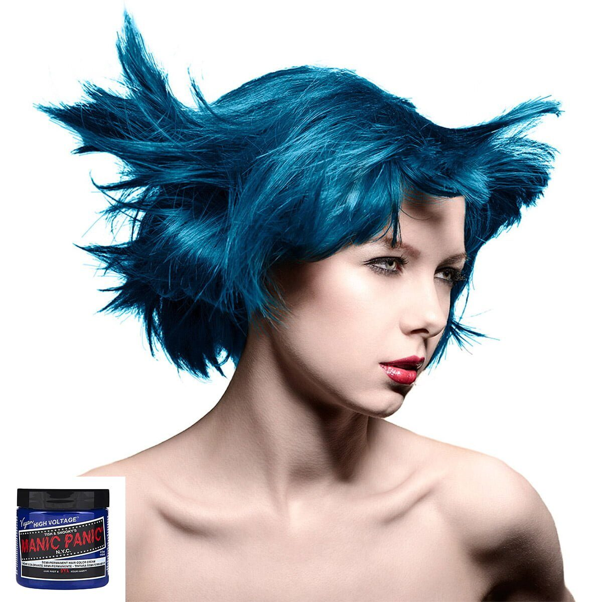 manic panic high voltage blå hårfarge 118 ml after midnight classic model 70417