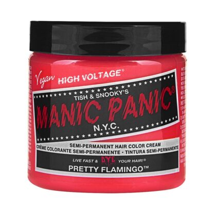 manic panic high voltage oransje uv hårfarge 118 ml pretty flamingo classic pot 70422