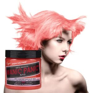 manic panic classic high voltage oransje uv hårfarge 118ml pretty flamingo model pot 70422