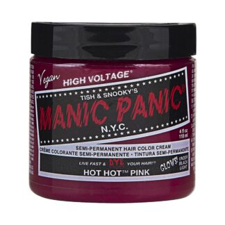 manic panic high voltage rosa uv hårfarge 118 ml hot hot pink classic pot 70424