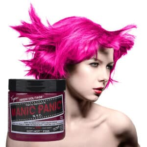 manic panic classic high voltage rosa uv hårfarge 118ml hot hot pink model pot 70424