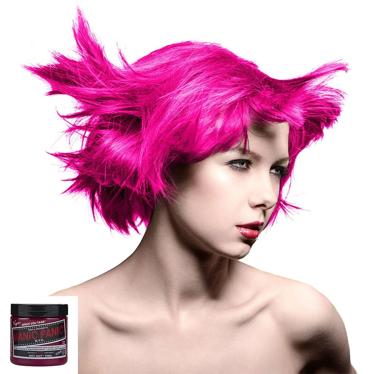 manic panic high voltage rosa uv hårfarge 118 ml hot hot pink classic model 70424