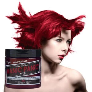 manic panic classic high voltage rød hårfarge 118ml infra red model pot 70425