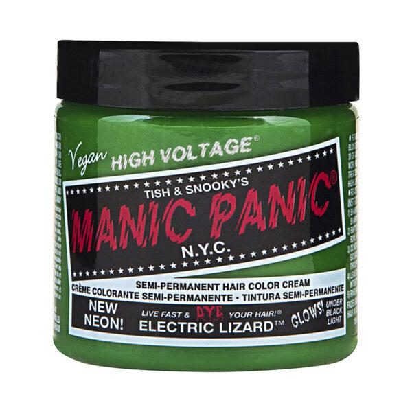manic panic classic high voltage grønn uv hårfarge 118ml electric lizard pot 70427